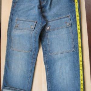 Cotton Blue Capry Jeans